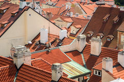 Roofs. Picture showing a high density buildings from aerial perspective Royalty Free Stock Image
