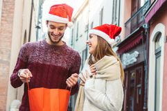 Christmas in love stock photography