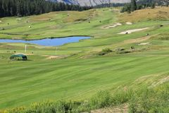 Golf course resorts, Canada travel- Billboard or front cover for magazines. Picture shown here is designed as a front cover for anything golf related. Many golf royalty free stock image