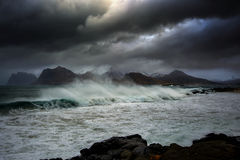 Stormy weather. The picture shows a big storm that threatened the countryside Royalty Free Stock Photos