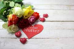 Happy mother`s day greetings stock photography
