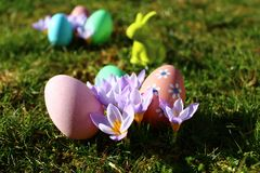 Happy easter greetings stock photo