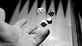 The picture shows dices Stock Photography