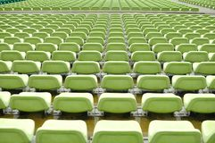 Empty stadium seats of The Float Stadium - Singapore. The picture shows empty stadium seats for spectator of the games in front of The Float Stadium or fireworks Royalty Free Stock Photography