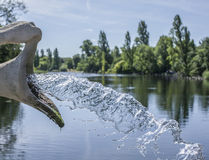 Hyde Park, the fountain. The picture shows a fountain in the Hyde Park, London. It was taken on a sunny day in August 2017 Stock Photography