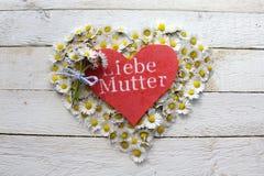 Beautiful motherday greetings stock photos