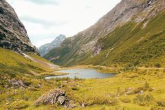 View on a valley and a see in Norway royalty free stock photo