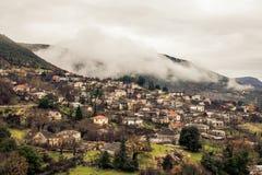 A mountain village in the area of zagorohoria greece Stock Photography