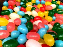 Multicolored sweets and figured candies. The picture shows Multicolored sweets and figured candies Stock Photography