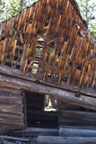 The Abandoned Barn. This picture shows an old abandoned barn in bad shape royalty free stock photos