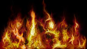 Red fire burning flames on dark background. This picture shows red flames on dark background Royalty Free Stock Images