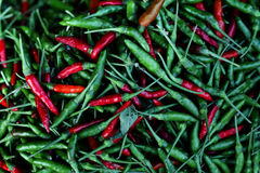 The picture shows spicy chilli. Hot and spicy tom yum or spicy soup Stock Photo