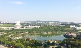The picture shows us the beautiful scenery of East Nanning. Stock Images