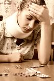 Picture of a sick girl Stock Photography