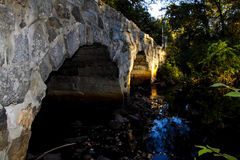 Picture of the side of a bridge In Westford,ma Royalty Free Stock Images
