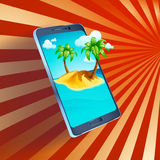 Picture of  smartphone Royalty Free Stock Images