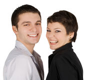 Picture of a smiling young couple in love Royalty Free Stock Images