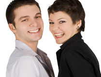 Picture of a smiling young couple in love Royalty Free Stock Photos