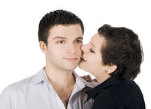 Picture of a smiling young couple in love Stock Images