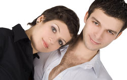 Picture of a smiling young couple in love Royalty Free Stock Photo