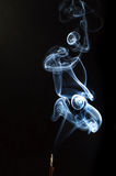 Smoke. A picture of a smoke of an incense Royalty Free Stock Photo