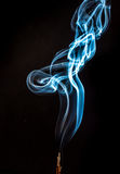 Smoke. A picture of a smoke of an incense Stock Photos