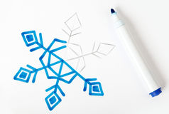 Picture snowflake illustration Royalty Free Stock Photos