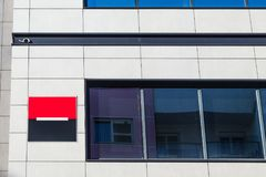 Logo of the Societe Generale Srbija Bank on their headquarters for Serbia. Societe Generale is one of the leading banks in Europe. Picture of Societe Generale royalty free stock photography