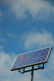 Picture  solar panel against cloudy blue sky. Picture of solar panel against cloudy blue sky Royalty Free Stock Photo