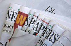 Unique Newspapers background. It is a picture about some newspapers Royalty Free Stock Images