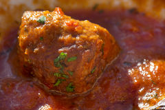 Spice meat ball Stock Image