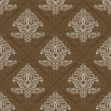 Seamless ornamental wallpaper. Royalty Free Stock Images