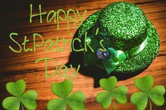 Picture for st patricks day. With shamrock Royalty Free Stock Image