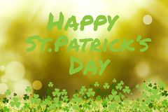 Picture for st patricks day. With shamrock Stock Photography