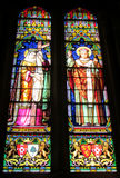 Picture on stained glass in the church Royalty Free Stock Images