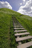 Picture of stairs to the hill in Kernave Stock Photos