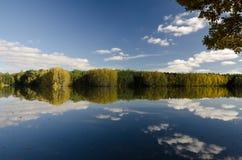 Picture of Stary Kanclir pond, Czech Republic. Lovely picture of Stary Kanclir pond situated in South Bohemia in Czech Republic near Trebon city Royalty Free Stock Photo