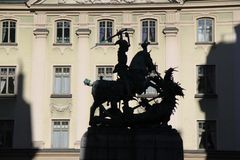 The shadow of St. George and the Dragon in Sweden Stock Images