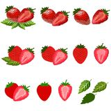 Stawberry isolated on white with clipping path. stock photos