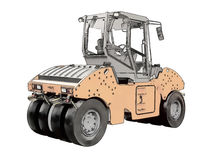 Picture of the steamroller Royalty Free Stock Image