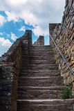 Picture of steep stone stairs Royalty Free Stock Photography