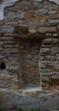 Picture of stone, old niche. Royalty Free Stock Photo