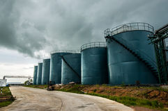 Picture of storage tanks Royalty Free Stock Photo