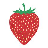 The picture of strawberry fruit is very simple Royalty Free Stock Image