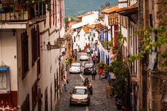 Picture of the street at the colorful town of Taxco, Guerrero. Mexico Royalty Free Stock Photo