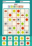 Picture sudoku for kids, Cut and paste. Fine motor activity Royalty Free Stock Images