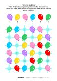 Picture sudoku puzzle with colorful balloons Stock Photography