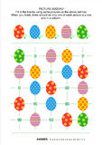 Picture sudoku puzzle with Easter eggs Royalty Free Stock Photos