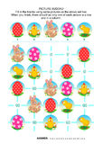 Picture sudoku puzzle, Easter themed Royalty Free Stock Photography