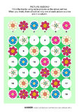 Picture sudoku puzzle with flowers Stock Photos